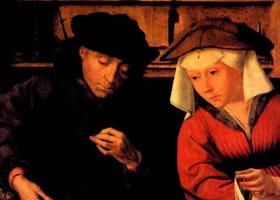 马苏斯《兑换银钱的人和他的妻子》