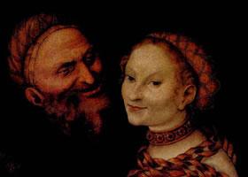 卢卡斯•克拉纳赫《老人与妓女》