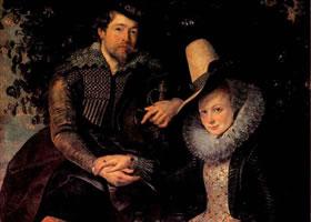 鲁本斯《画家与妻子像》赏析