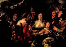 约丹斯《豆王节的欢宴》赏析