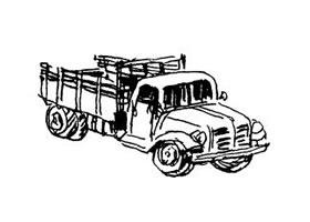 速写交通工具作画步骤