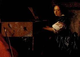 维米尔《坐在维金纳琴前的少女》赏析