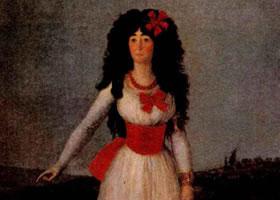 戈雅《阿尔瓦公爵夫人》赏析