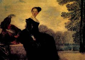 华托《任性的妇人》油画赏析