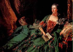 法国布歇《蓬巴社夫人》油画赏析