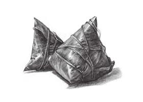 粽子素描画法画法