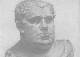 罗马皇石膏像写生