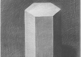 六棱柱体写生步骤
