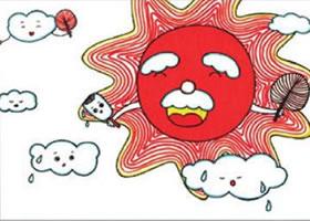 太阳公公儿童画线描