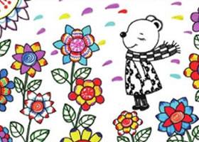 小熊儿童画线描