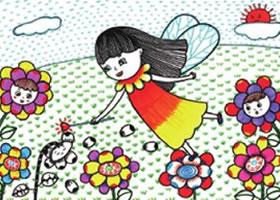 花仙子儿童线描