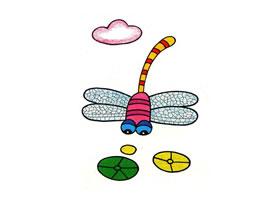 蜻蜓油画棒作画步骤