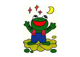 青蛙油画棒作画步骤