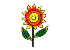向日葵油画棒作画步骤