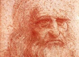 达芬奇《有胡须的男子头像》素描欣赏