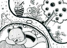 大棕熊儿童线描画法步骤