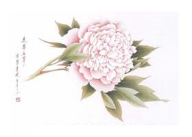 工笔花卉先染后罩技法