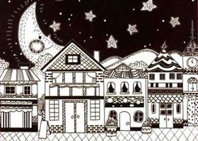 城市儿童线描画法步骤