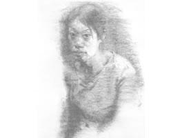 《学生肖像》素描写生