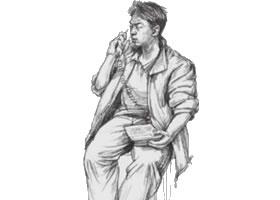 人物速写坐姿的画法步骤(四)