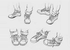 人物下肢的速写画法
