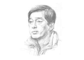 《男子头像》素描画法步骤