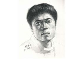 杨国杰人物素描画法步骤(中年男子)