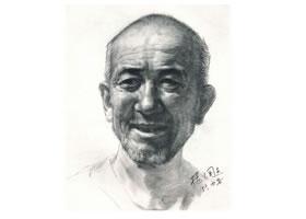 杨国杰人物素描画法步骤(老年男子)