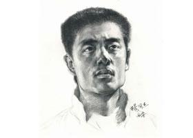 杨国杰人物素描画法步骤(壮年男子)