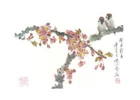樱花的写意画法