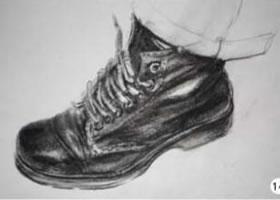 人物速写鞋子的步骤表现