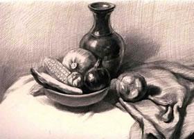 蔬菜组合素描画法(二)