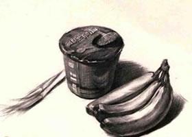 桶装方便面组合素描画法