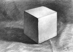 正方体素描的不同表现