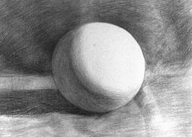 圆球体素描的不同表现