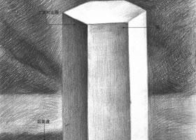 六棱柱体素描的不同表现