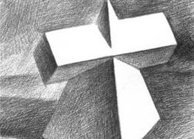 方锥结合体素描的明暗画法