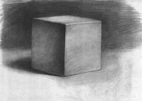 正立方体石膏几何体素描画法