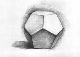 五边形多面体石膏几何体素描画法