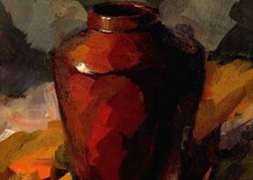 陶罐的水粉画法步骤