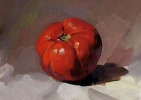 西红柿的水粉画法步骤