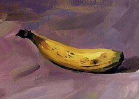 香蕉的水粉画法(二)