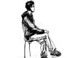 坐姿速写作画步骤分析(二)