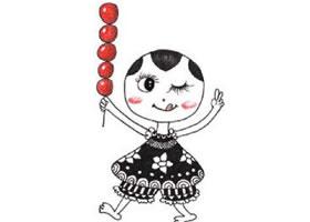 老北京糖葫芦装饰画作画步骤