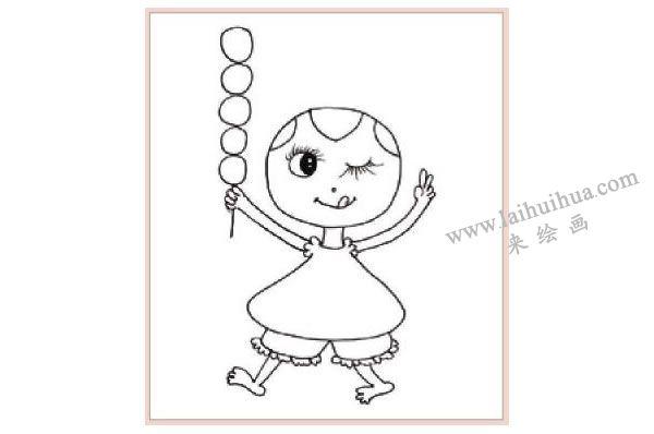 老北京糖葫芦装饰画作画步骤图示01