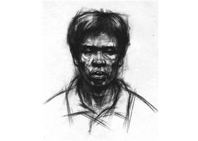 男中年头像结构素描画法