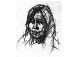 女中年头像结构素描画法