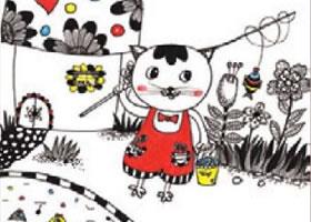 小猫钓鱼儿童装饰画作画步骤