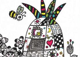 水果房子儿童装饰画作画步骤