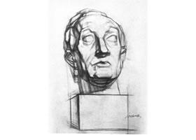 石膏头像结构素描的表现方法